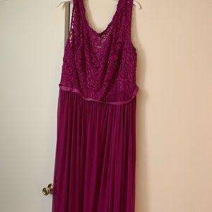 David's Bridal floor length bridesmaid dress
